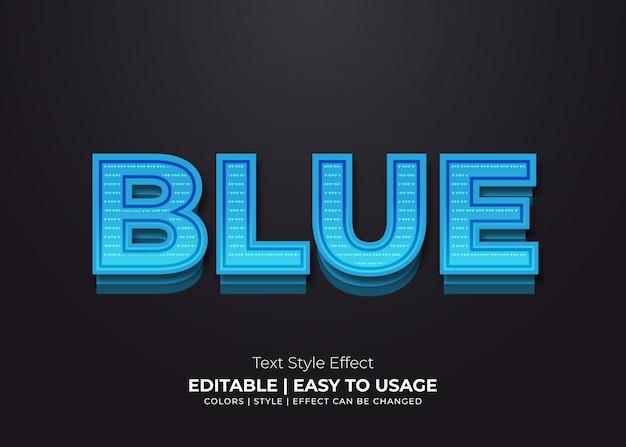 Vet blauw teksteffect met papierstijl