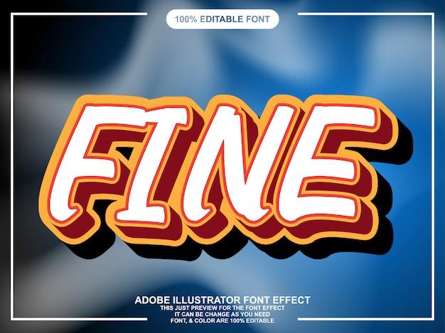 Vet cartton text style lettertype-effect