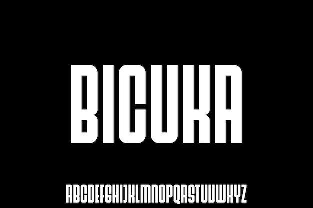 Vet gecondenseerd lettertype voor poster en kopregel