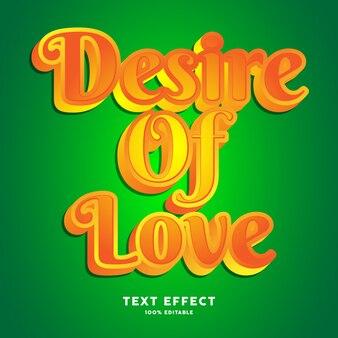 Vet geel lettertype-effect