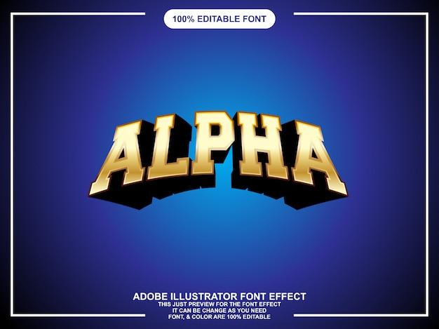 Vet goud grafisch stijl bewerkbaar teksteffect