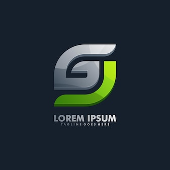 Vet letter g logo vector