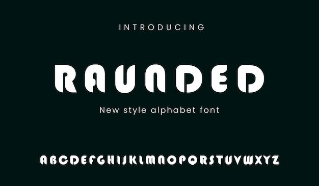 Vet lettertype met futuristische stijl techno