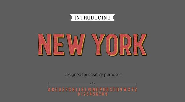 Vet lettertype. voor labels en verschillende letterontwerpen