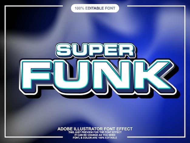 Vet modern techno tekststijl lettertype effect