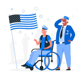 Veteranen concept illustratie