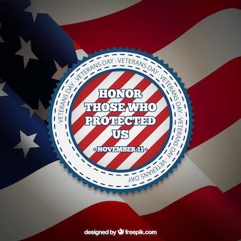 Veteranen dag badge