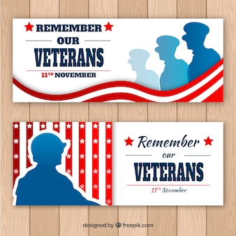 Veteranen dag banners