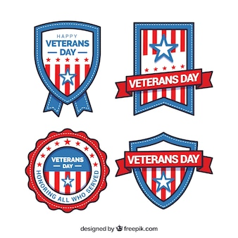 Veteranen dag etiketten