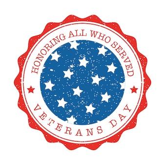 Veteranen dag grunge postzegel