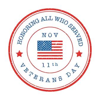 Veteranen dag postzegel badge