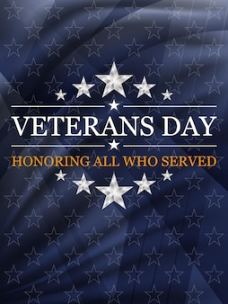 Veteranendag achtergrond. nationale feestdag van de vs. vector illustratie.