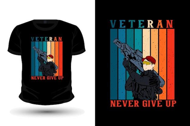 Veteranendag met leger brengt bazooka merchandise illustratie mockup t-shirtontwerp