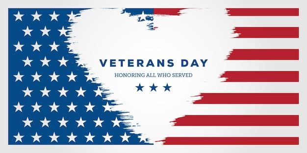 Veteranendag. ter ere van iedereen die diende, posters, modern design vectorillustratie