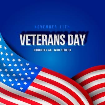 Veteranendag viering realistisch ontwerp
