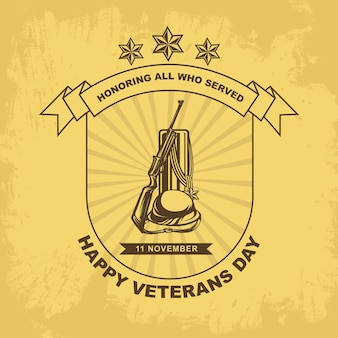 Veteranendagen sjabloon medaille teken