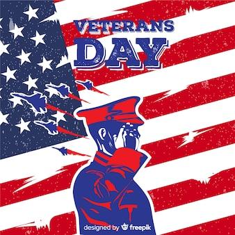 Veterans dag achtergrond met ons vlag elementen