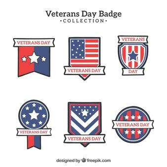 Veterans dag badge pack
