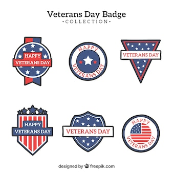 Veterans dag badge set
