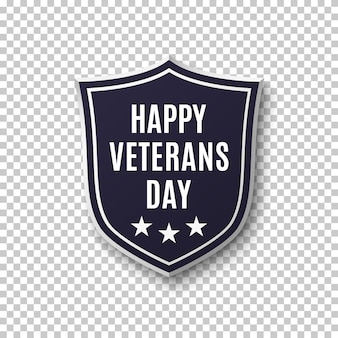 Veterans day achtergrond. abstract schild. illustratie