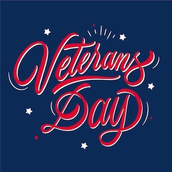 Veterans day belettering van ontwerp