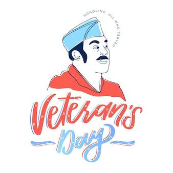 Veterans day belettering
