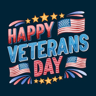 Veterans day belettering