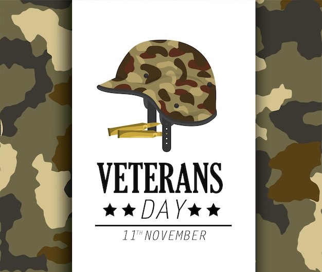 Veterans day celebration and helmet uniform