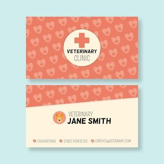 Veterinair dubbelzijdig visitekaartje