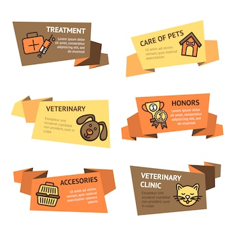 Veterinaire banner set