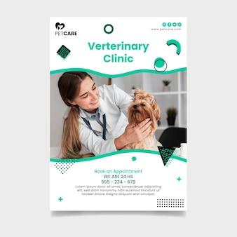 Veterinaire kliniek flyer-sjabloon