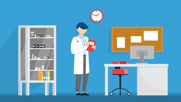 Veterinaire kliniek kamer interieur. dierlijke behandeling. dokter