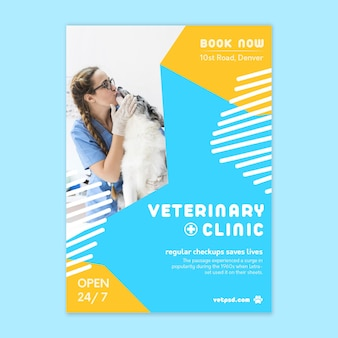 Veterinaire verticale flyer-sjabloon
