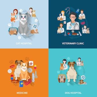 Veterinaire vlakke set