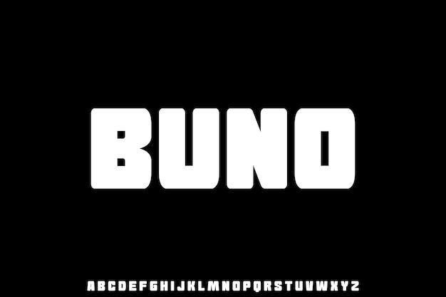 Vetgedrukt lettertype vector set