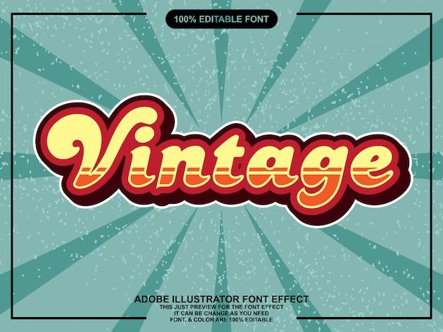 Vetgedrukt retro-effect lettertype tekststijl
