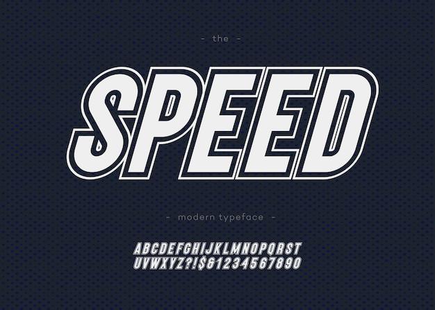 Vetgedrukte snelheid alfabet moderne typografie zonder serif-stijl voor sport