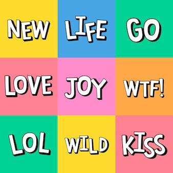 Vetgedrukte woorden in komische stijl