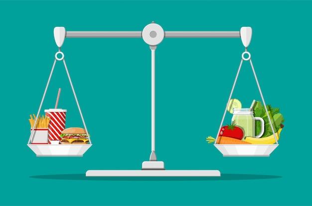 Vettig cholesterol versus vitamines Premium Vector