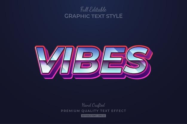 Vibes 80's retro bewerkbaar tekststijleffect