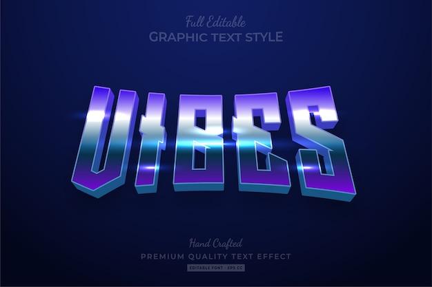 Vibes 80's retro gradient bewerkbaar premium tekststijleffect