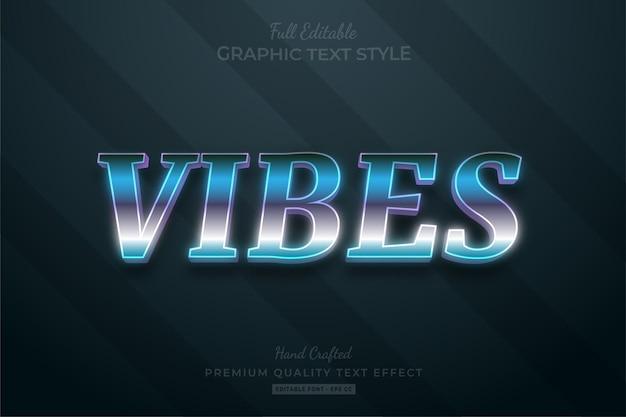 Vibes 80's retro gradiënt teksteffect bewerkbare premium-lettertypestijl