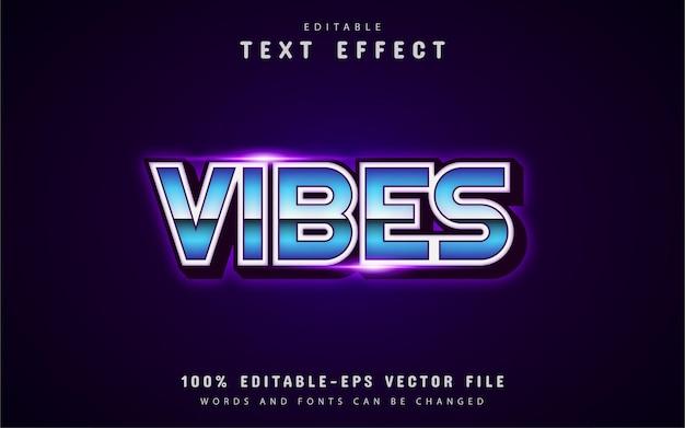 Vibes-tekst, retro teksteffect uit de jaren 80