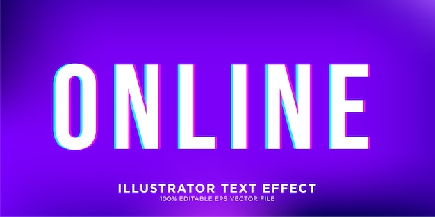 Vibrand-teksteffect ontwerpstijleffect