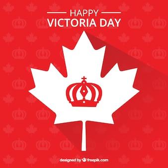 Victoria dag achtergrond wit blad ontwerp
