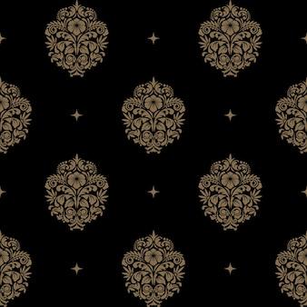 Victoriaans barok naadloos patroon. achtergrond
