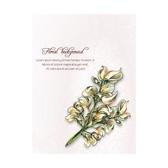Victoriaanse bloemenachtergrond