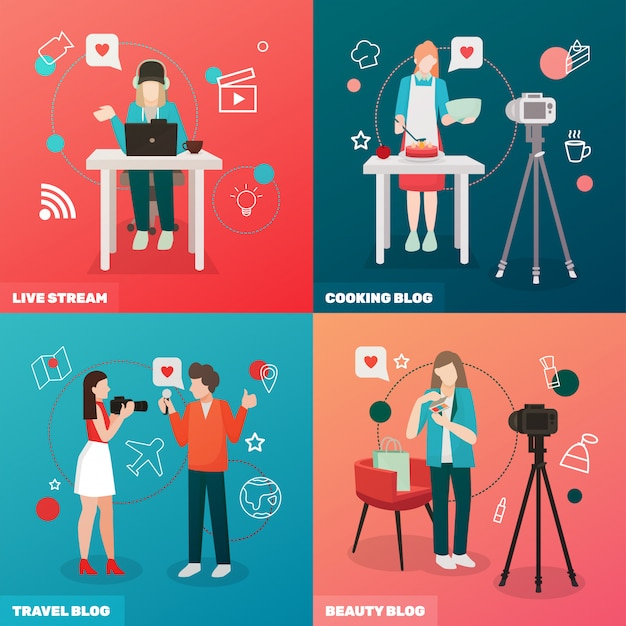 Video bloggen concept