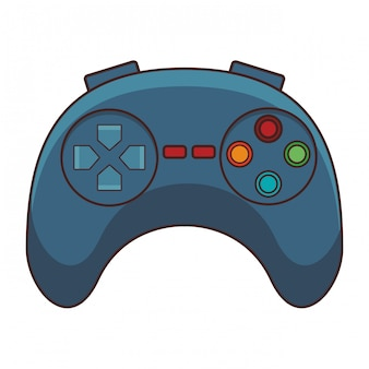 Video game controller cartoon