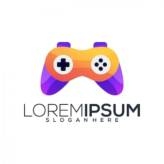 Video game logo sjabloon